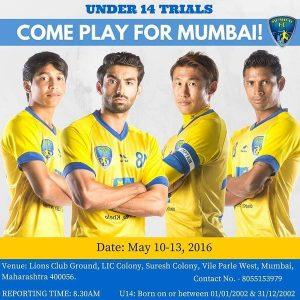 Mumbai FC U14 trials