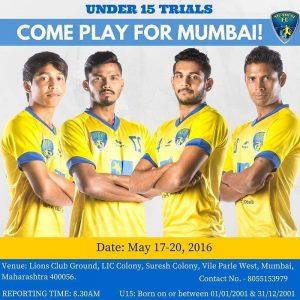 Mumbai FC Under-15 trials