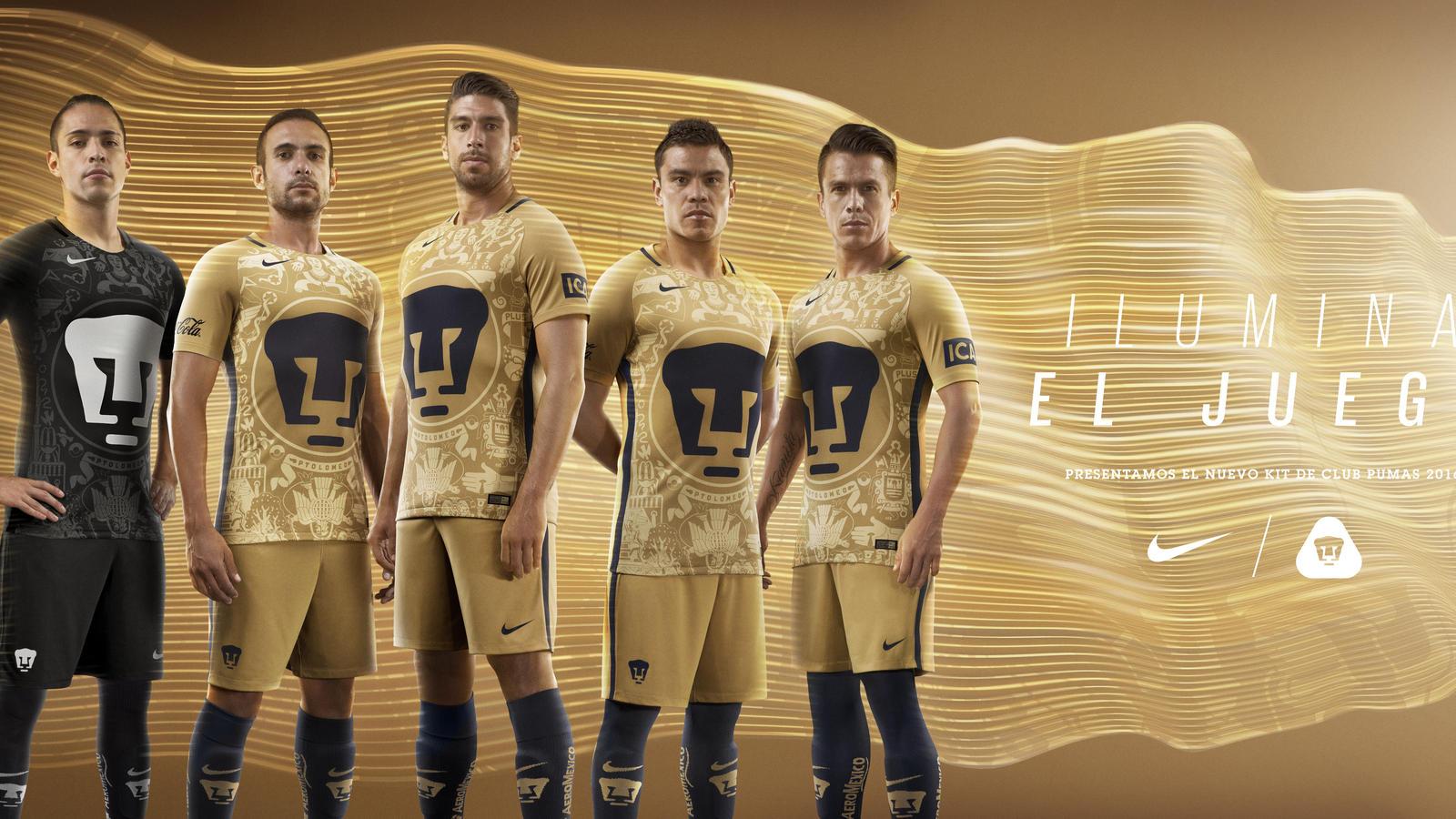 b57a180d8 Nike presents Mexico s Pumas Home   Away Kits 2016-17 - Arunava about  Football