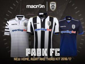macron   Greek side PAOK FC present new kits for 2016 17 season ... ab627ef4e40