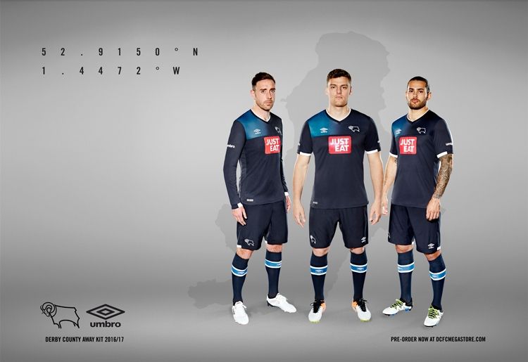 UMBRO has unveiled the new Derby County 2016 17 away kit! - Arunava ... 4db796c91