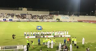 Watching a UAE Arabian Gulf League match in Dubai!