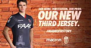 macron & Bologna FC extend their contract, launch a third kit!