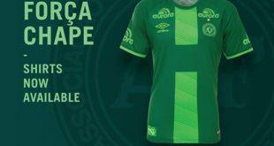 UMBRO launch special Chapecoense jersey – FORÇA CHAPE!