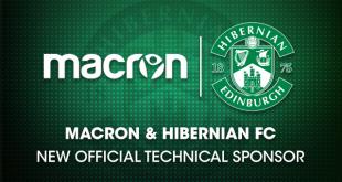 Scotland's Hibernian FC sign a deal with Macron & sports retailer PSL!