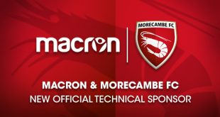 Macron sign England's Morecambe FC under a new Technical Sponsorship!