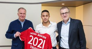 Spain's Thiago Alcantara extends his Bayern Munich contract by two years until 2021!