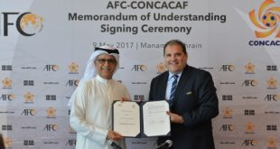 AFC (Asia) forges closer collaboration with CONCACAF (North America)!