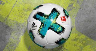 "New Bundesliga match ball: Turquoise strip for ""TORFABRIK""!"