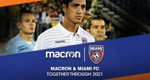 Miami FC & Macron extent partnership until 2021!
