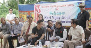 India's Sports Minister Vijay Goel promises MFA Ground, Football Academy at Sairang, Mizoram!