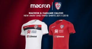 Macron & Cagliari Calcio present the away & third for the 2017/18 season!