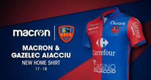 Macron & Gazelec Ajaccio launch 2017/18 home kit!