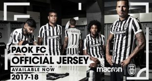 Macron & PAOK FC: The Traditional Black & White, & the Turquoise of the Aegean Sea!
