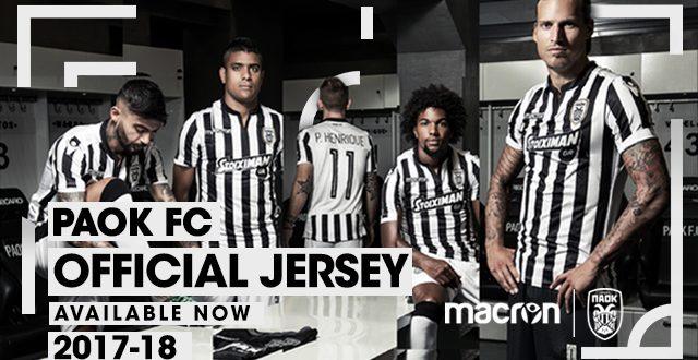 Macron   PAOK FC  The Traditional Black   White 04326b91318