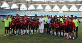 AIFF President Praful Patel visits training session of India U-17 World Cup Team!