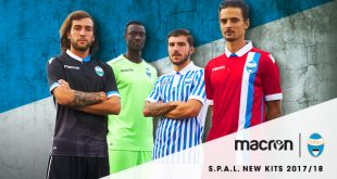 Macron create Tradition & History in 2017/18 season shirts of Italy's S.P.A.L.!