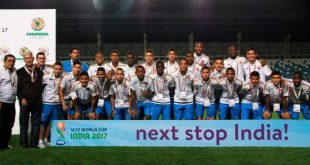Colombia become the first team to arrive for 2017 FIFA U-17 World Cup in India!