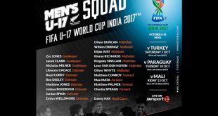 New Zealand announce squad for 2017 FIFA U-17 World Cup in India!