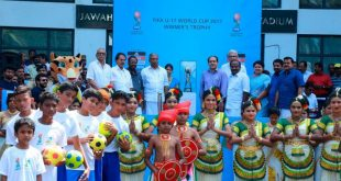 FIFA U-17 World Cup Winner's Trophy unveiled in Kochi!