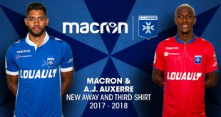 Macron & AJ Auxerre present the new 2017/18 season away & third kits!