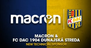 Macron new technical sponsor of FC DAC 1904 Dunajska Streda!