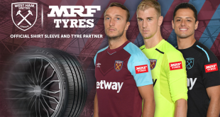 India's tyre conglomerate MRF named West Ham United's sleeve sponsors!