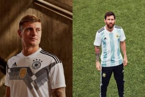 4952ea048b1 adidas today revealed the home kits which will be worn by adidas  federations for the 2018 FIFA World Cup in Russia. Inspired by past shirt  designs