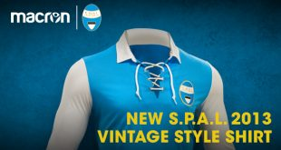 Macron & Serie A newcomers S.P.A.L. launch Vintage Style Shirt!