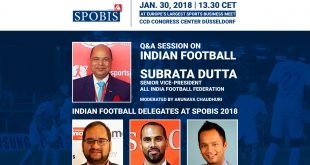AIFF Senior VP Subrata Dutta to discuss Indian football at SPOBIS 2018 in Düsseldorf!