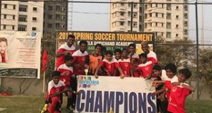 2018 Spring Soccer Tournament held for kids in Hyderabad!