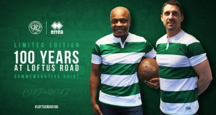 Queens Park Rangers & Errea celebrate 100 years at Loftus Road with a special commemorative shirt!