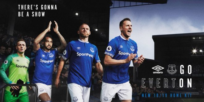59350094d New 2018 19 Everton FC home kit by UMBRO unveiled!