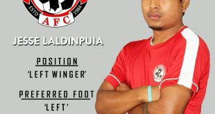 Aizawl FC announce signing of Jesse Laldinpuia!