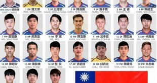 Chinese Taipei name their squad for the Intercontinental Cup in India!