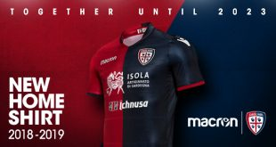 Macron and Cagliari Calcio unveil new home kit, extend contract until 2023!