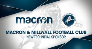 Macron returns to be Technical Sponsors of Millwall FC once more!