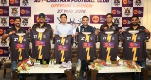 AU Rajasthan Football Club launched today in Jaipur!