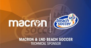 The official Ball of Italy's Beach Football Serie A is Macron!