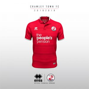 bb0f9cd682d Crawley Town FC's new 2018/19 home kit by Errea unveiled!