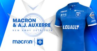 Macron uses White and Blue for AJ Auxerre 2018/19 season kits!