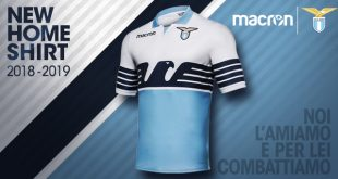 The return of the Lazio Roma flag shirt by Macron!