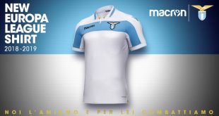New Lazio Roma's UEFA Europa League shirt by Macron inspired by Centenary kit!