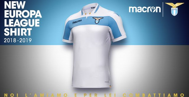 New Lazio Roma s UEFA Europa League shirt by Macron inspired by Centenary  kit! 0857f10bc