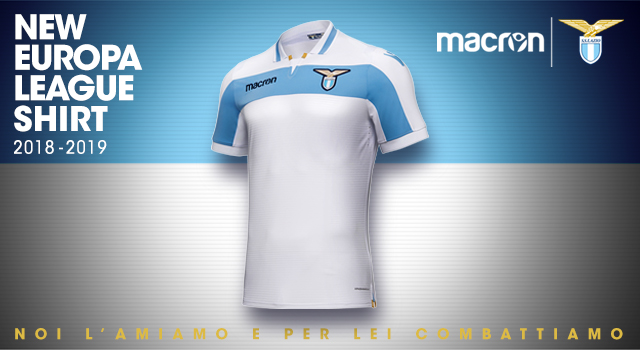 New Lazio Roma s UEFA Europa League shirt by Macron inspired by Centenary  kit! af3bc98c3