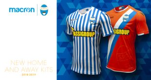 A marriage of tradition & modernity in the new home & away shirts for S.P.A.L by Macron!