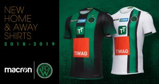 A gradual face effect & elegant stripes by Macron for 2018/19 season Wacker Innsbruck kits!