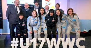 Maldonado officially receives the FIFA U-17 Women's World Cup!