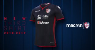 Macron created Blue Stripe for Cagliari Calcio third kit!