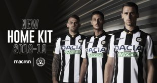 Black, White & Gold: The new home jersey for Udinese Calcio by Macron!